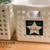 冷蔵庫ラベル | 大きい星の冷蔵庫収納ラベル*セリアやダイソーの収納ケースで冷蔵庫